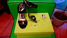 5 38 TED BAKER BLACK GOLD HEELS STILETTO SEXY CHABLISE WORN ONCE EXTRA HEEL TIPS