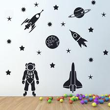 Rocket Space Ship cosmonaut Vinyl Wall Sticker Decor Decal Mural Kids Children