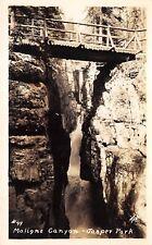 Jasper National Park Canada 1910s RPPC Real Photo Postcard Maligne Canyon