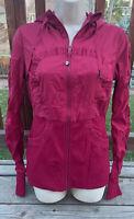 Lululemon Dance Studio Women's 8 Reversible Ribbed/Striped Jacket Magenta