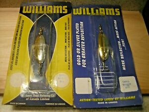 TWO (2) Vintage Williams Wabler Spoons Gold And Silver Color Pattern-NIP