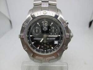 TAG HEUER 2000 EXCLUSIVE CHRONOGRAPH CN1110 STAINLESS STEEL  QUARTZ MENS WATCH