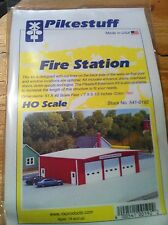 Pikestuff 541-0192 HO Scale Fire Station RED Building Kit