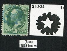 """*PJ's """".03 Cent Green"""" - w/  Cole STU-34 Fancy Cancel (Blue Sprocket)-lot #2652"""