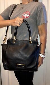 MARC JACOBS Too Hot To Handle Bentley Handbag PURSE & Strap Black Gold Tote Bag
