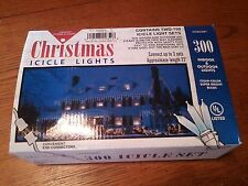 CHRISTMAS ICICLE LIGHTS 300 INDOOR/OUTDOOR LIGHTS