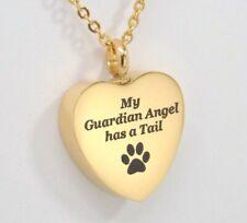 Dog or Cat Ashes Holder Necklace , Pet Heart Urn Necklace, Engraveable Urn