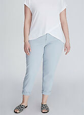 36e66667096 Lane Bryant Womens BOYFRIEND Chino Pants Size 14 Light Blue Low Rise Stretch