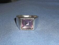 Sterling Silver Handcrafted Amethyst Ring