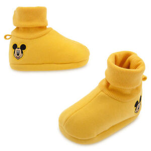 New Disney Store Mickey Mouse Yellow Baby Costume Dress Up Shoes Slipper many sz
