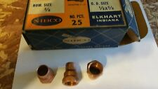 """COPPER NIBCO FITTINGS ,ADAPTER CXF ,NOM. SIZE 3/8"""" ,O.D. SIZE 1/2"""" ( 38 ) PIE"""