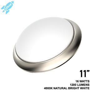 11'' 13'' Motion Sensor LED Flush Mount Ceiling Light Brushed Nickel 4000K Cool
