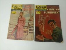 """2 Lot Vintage Classics Illustrated """"Crime & Punishment"""" """"Tale of Two Cities"""""""
