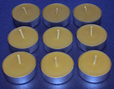 30 x 100% Pure Beeswax Tea Lights Candles Night Lights Handmade (Standard Size)