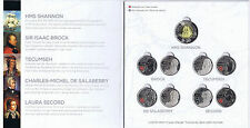 THE WAR OF 1812 COLLECTOR CARD (FOLDER) WITH NINE BRILLIANT UNCIRCULATED COINS