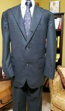 Brooks Brothers Makers Gray Flannel Wool Suit  Size 42Lx36W