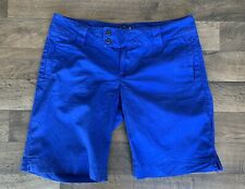 "The North Face – Women's Flat Front Khaki Shorts - Size 14 Reg / 11"" Inseam Blue"