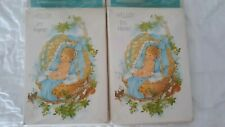 """New Vintage Baby Birth Announcement 16 Cards w/Envelopes- """"Hello I'm Here"""""""
