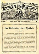 Zum Geburtstag unserer Kaiserin am 22.Oktober 1900 Original Titelblatt v.1900