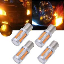 4X Amber Strobe Blink Flash 1156 BA15S P21W 33 led smd Car Turn Signal Bulb