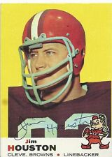 Cleveland Browns JIM HOUSTON Signed 1969 Topps Card