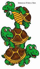 Fensterbild Window Color Bild Fensterfolie Schildkröten bauen Turm (082)