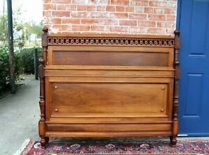 French Antique Carved Walnut Full Size Bed | Bedroom Furniture