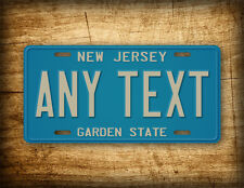 Custom Vintage New Jersey License Plate State Auto Tag 6x12 NJ Garden State