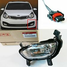 KIA 2012~2015 Rio Sedan  Fog Lamp + Connector  Set  Front Left  92201-1W000