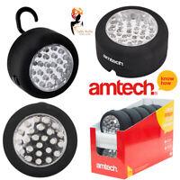 24 LED Work Light Flashlight Torch Lamp Magnetic Hanging Hook Tool Amtech S1583