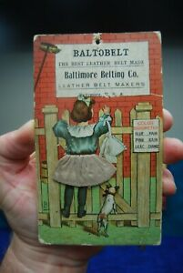 Antique Baltimore Leather Belt Co Barometer Advertising Card Nov 1903 Balto Belt