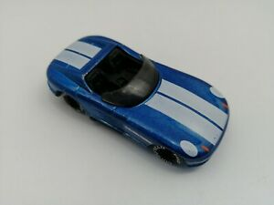 Matchbox 1990 Sunburner Blue White Stripes Die cast Car 1,58 Scale VERY GOOD CON