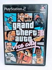 Grand Theft Auto Vice City GTA Playstation 2 PS2 Game Complete w/ Poster Map!