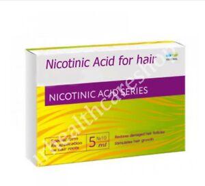 Nicotinic acid for hair Stimulates & Strengthens the hair. 10 ampules Х 5 ml