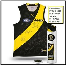 RICHMOND 2018 SIGNED TEAM JUMPER IN COLLECTORS TIN DUSTIN MARTIN RIEWOLDT RANCE