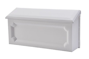 Gibraltar Mailboxes Windsor Medium Capacity Rust-Proof Plastic White, Wall-Mount