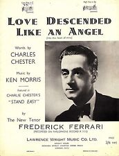 """c1930s Sheet Music- Love Descends Like an Angel, Charlie Chester's """"Stand Easy"""""""