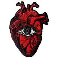Embroidered Patches Iron Sew On Patches transfers Badges appliques Eye On Heart