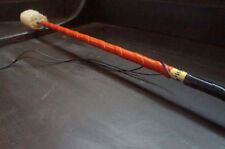 Contact Fire Levitation Wand (Orange/Black) Short String by HoopY FrooD