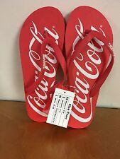 Coca Cola Flip Flops~Adult Large~Official Coca~Cola + Free Coca Cola Key Ring!!