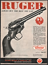 1958 Ruger Single-Six .22 Revolver Ad original price shown Vintage Advertising
