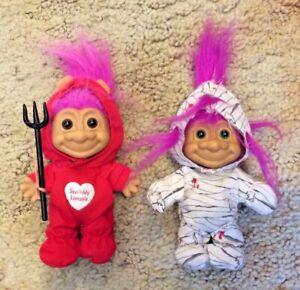 Vintage    Russ Troll Dolls  Devil Devishly Loveable Mummy Halloween