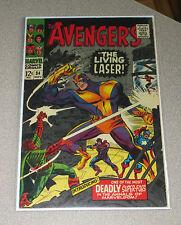 AVENGERS #34 MARVEL 1966 LIVING LASER LAST STAN LEE PLOT