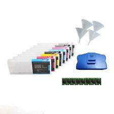 8PCS Refillable ink Cartridge For Epson Stylus Pro 4880 + FREE Chip Resetter