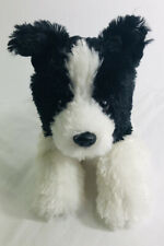 Aurora World Border Collie Puppy Dog Black White Plush Stuffed Animal