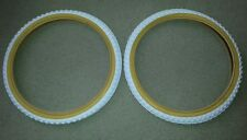 """2 NEW DURO BMX BICYCLE TIRES ,20""""X1.75""""WHITE-GUMWALL  COMP 3 MX3 STYLE,CLEAN"""