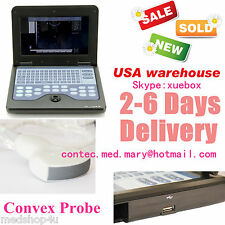 Portable Digital Ultrasound machine Scanner system,3.5MHZ CONVEX PROBE,Promotion