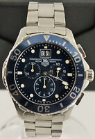 Tag Heuer Aquaracer CAN1011.BA0821 Mens Blue Swiss Quartz Chronograph Date Watch