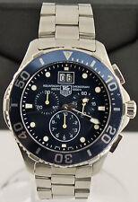 Tag Heuer Aquaracer CAN1011.BA0821 Mens Blue Swiss Quartz Chronograph Date Watch