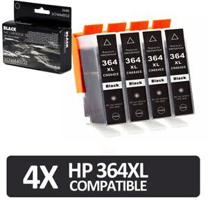 4 Black Ink Cartridges for HP 364XL Photosmart 5510 5515 5520 6510 C6380